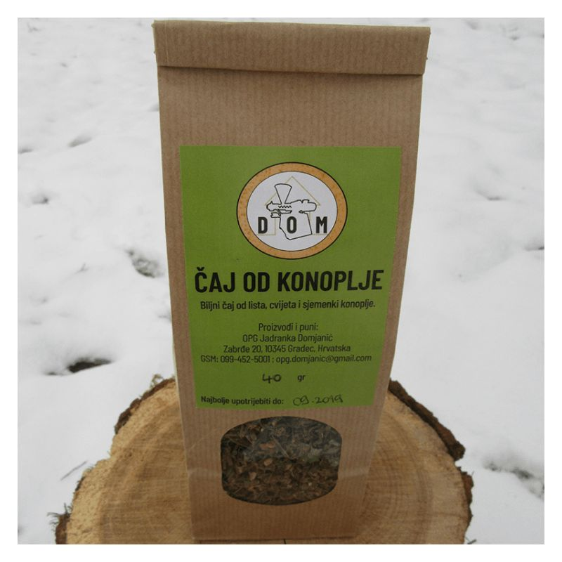 Industrial hemp flower, leaf and seed tea 40g Price Discount